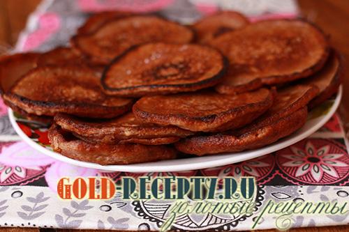 Рецепт оладьев из кислого кефира с яблоками