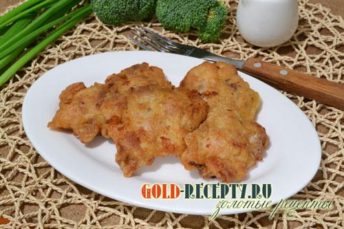 куриные оладьи из рубленного мяса рецепт с фото