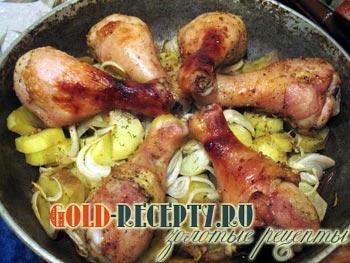 куриные голени с картошкой рецепт с фото