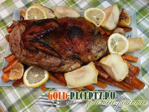 В духовке, Курица с картошкой, рецепты с фото на ...