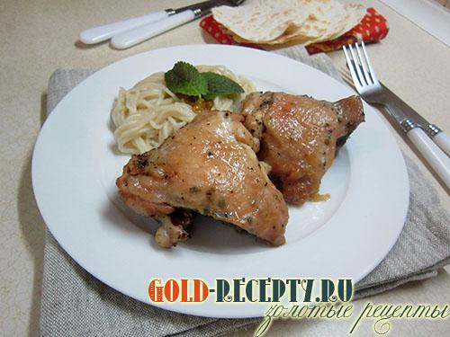 вкусный рецепт запеченные куриные бедра в духовке