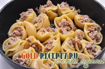 макароны с фаршем со сливками в духовке рецепт