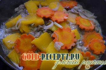 рецепт тушеного мяса с овощами