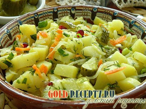 Салат картошка с капустой