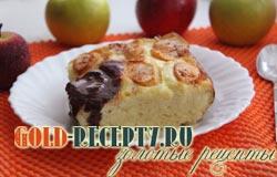 творожная запеканка с яблоками рецепт