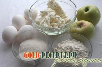 творожная запеканка с яблоками рецепт приготовления