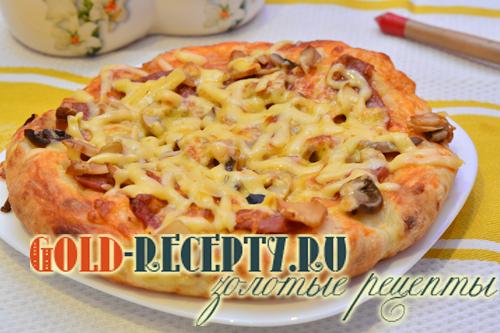 пицца пепперони в мультиварке рецепт