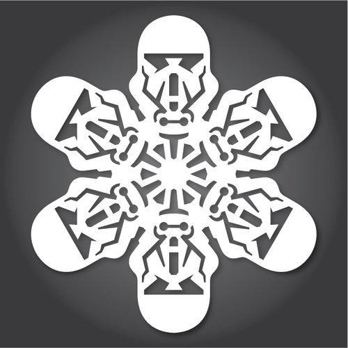 трафареты для снежинок