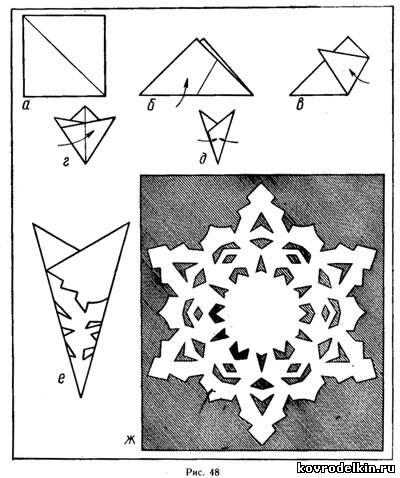Как вырезать красивые снежинки из бумаги своими руками 24
