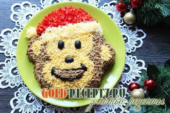 Салат новогодний в год обезьяны
