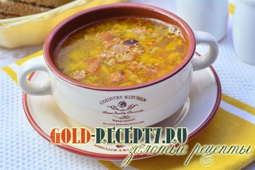 Гороховый суп из свинины
