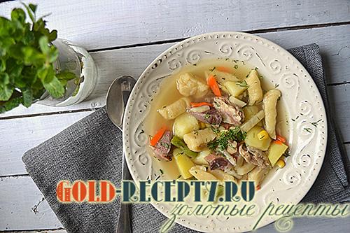 суп галушки рецепт с фото