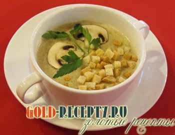 рецепт супа пюре из шампиньонов со сливками в мультиварке