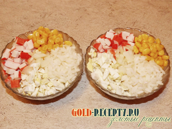 салат крабовых палочек с мивиной рецепт