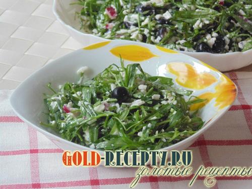 салат с виноградом рецепт