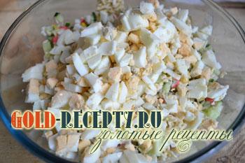 рецепт салат из мивины и крабовых