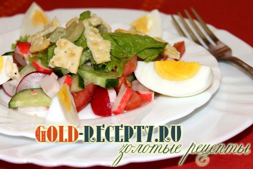 Рецепты салатов с ржаными сухариками