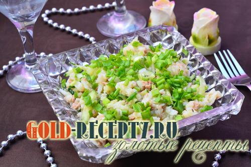 рыбный салат из отварной трески рецепт классический