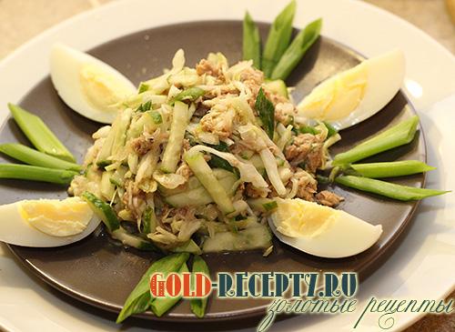 салат с тунцом консервированным рецепт яйцом