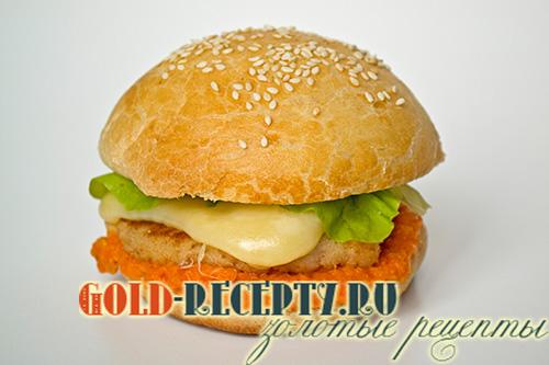 чизбургер с куриной котлетой рецепт