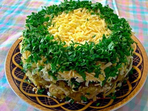 Рецепты с салат печеночный