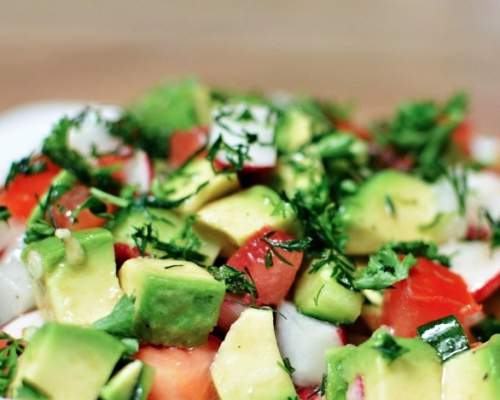салат из креветок и морепродуктов рецепт фото