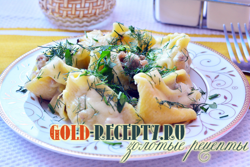 Ракушки с овощами и грибами, пошаговый рецепт с фото