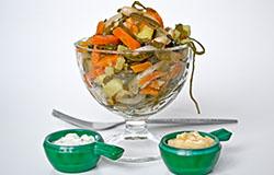 Салат с морской капустой и мидиями, пошаговый рецепт с фото