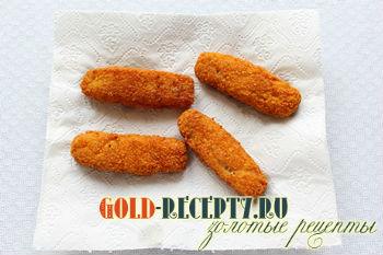 Жареные рыбные палочки, пошаговый рецепт с фото