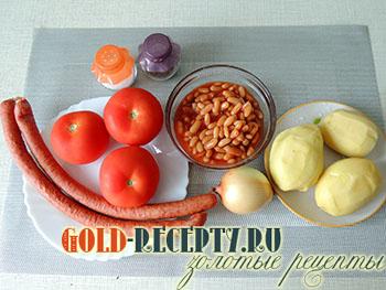 Фасолевый суп с рулькой и колбасками, пошаговый рецепт с фото
