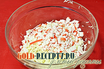 Постный салат с кальмарами, пошаговый рецепт с фото