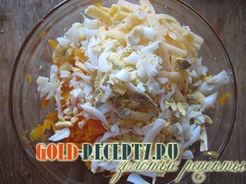 Салат из тыквы с кальмарами, пошаговый рецепт с фото