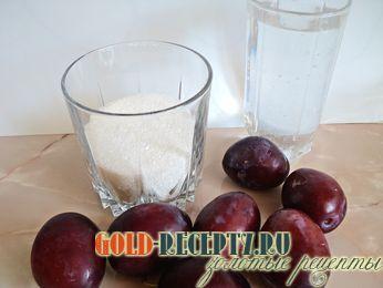 Сливовый компот, пошаговый рецепт с фото