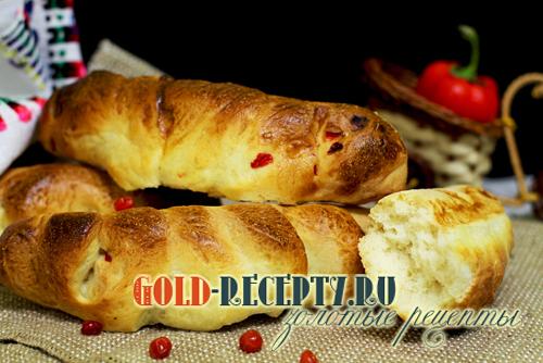 Багет  в хлебопечке рецепт багета с болгарским перцем в хлебопечке