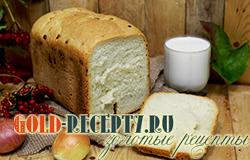 Белый хлеб в хлебопечке рецепт с фото