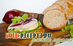 Диетический бутерброд с кальмаром и цуккини
