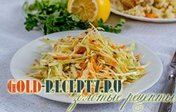 Диетический салат с капустой рецепт с фото