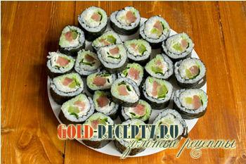 Суши с красной рыбой рецепт в домашних условиях рецепт с пошаговым фото