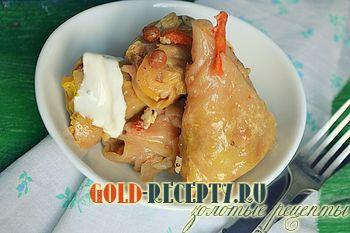 Голубцы рецепт с яблоками и с изюмом