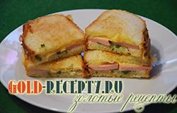 Рецепт горячих бутербродов с колбасой в духовке