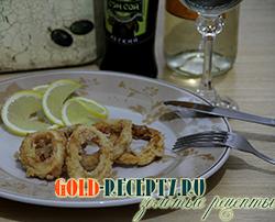 Кальмары в кляре рецепты с фото, кольца кальмаров в пивном кляре.