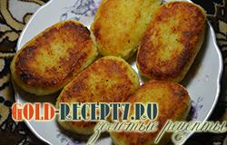 Постные картофельные биточки, пошаговый рецепт с фото