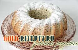 Рецепт кекса с маком и орехами