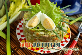 Салат с курицей без майонеза пошаговый рецепт с фото