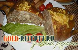 Курица фаршированная блинами рецепт с пошаговыми фото