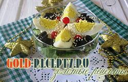 Салат  с курицей и огурцом простой салат на новый год