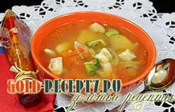 Мексиканский рыбный суп с морским окунем