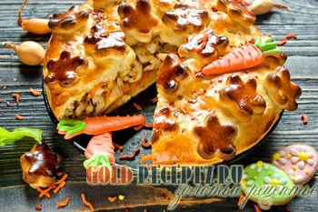 Мясной пирог на Пасху рецепт с фото