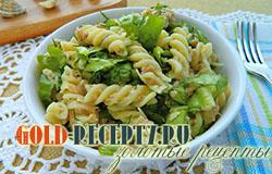 Новогодний итальянский салат с макаронами