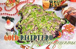 Острый салат на новый год Елка из свеклы и сельди
